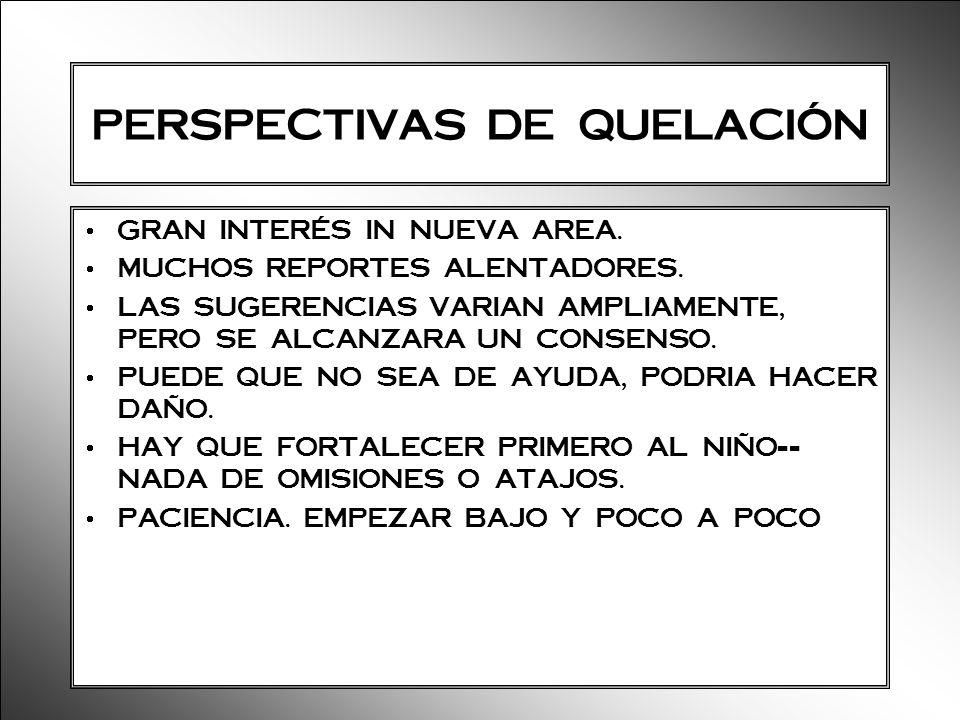 PERSPECTIVAS DE QUELACIÓN