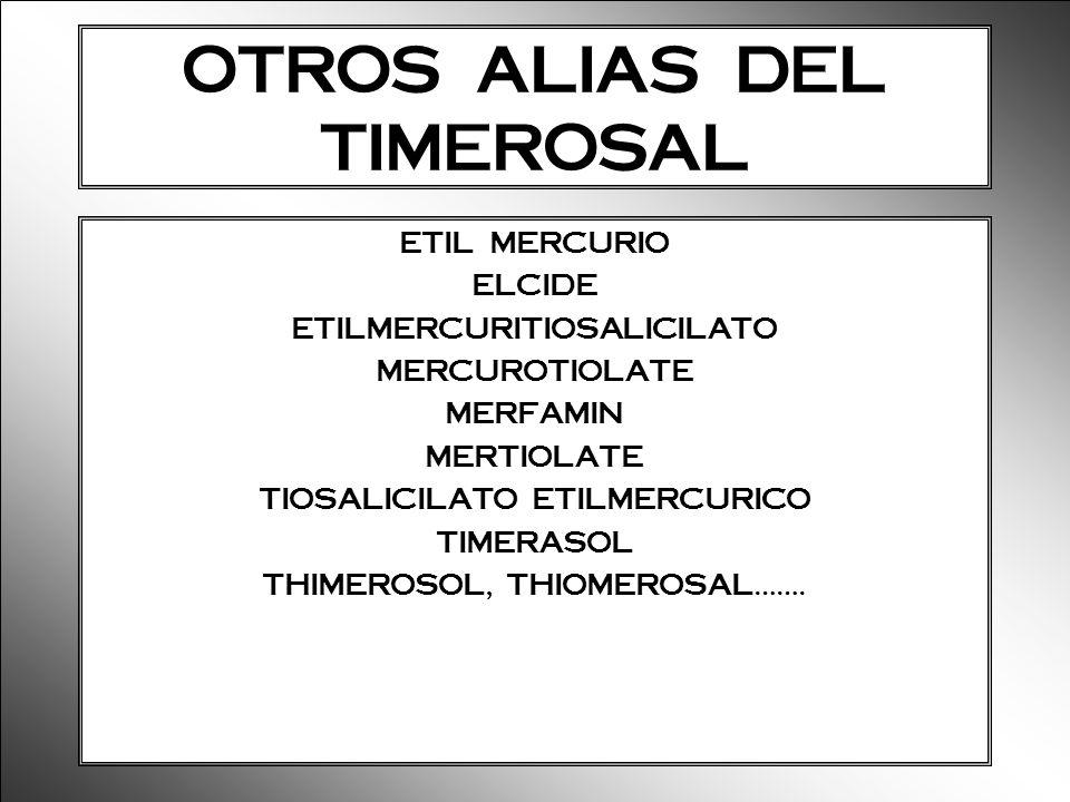 OTROS ALIAS DEL TIMEROSAL