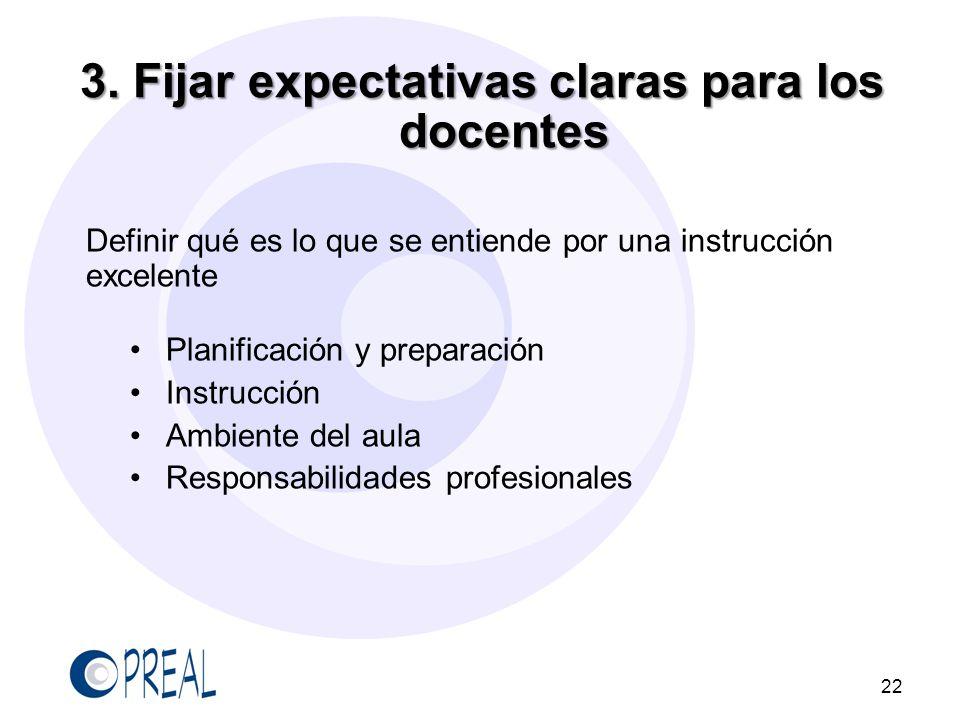 3. Fijar expectativas claras para los docentes