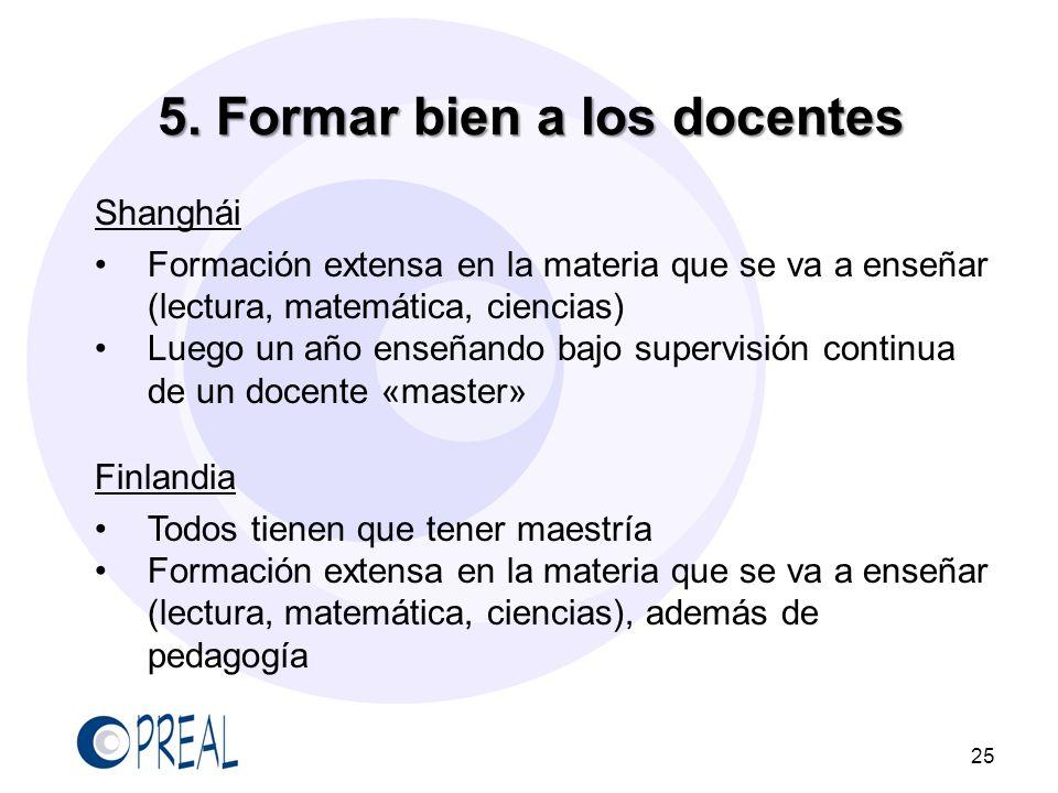 5. Formar bien a los docentes