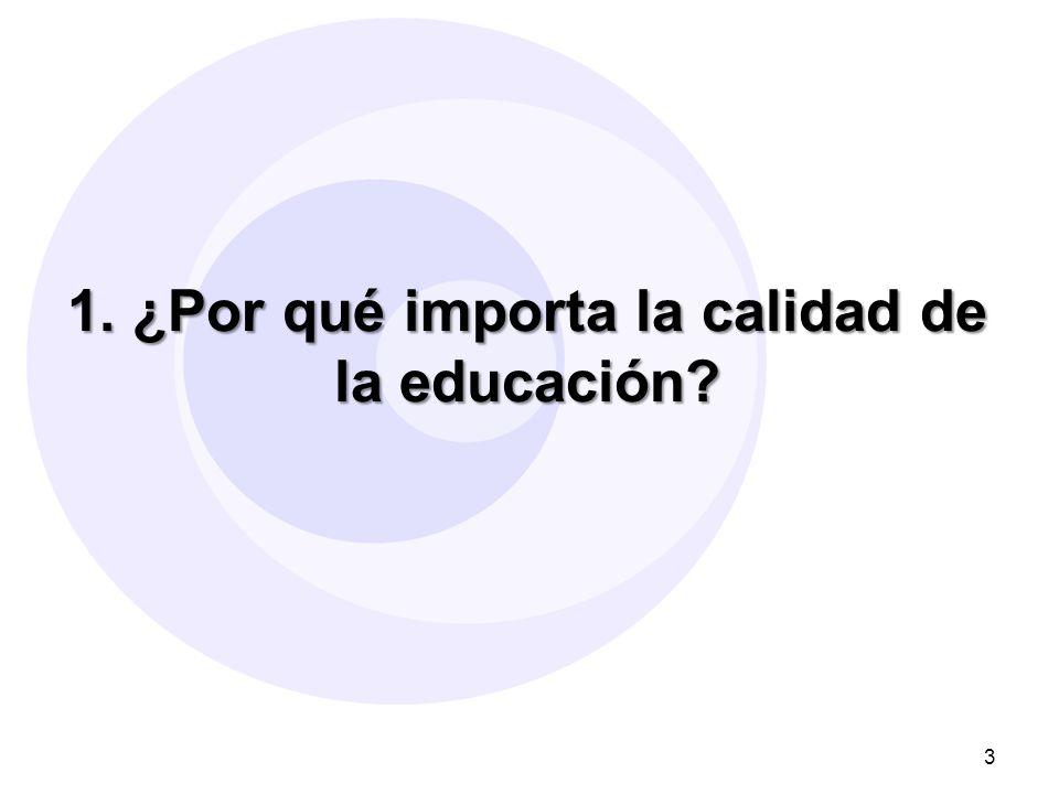 1. ¿Por qué importa la calidad de la educación