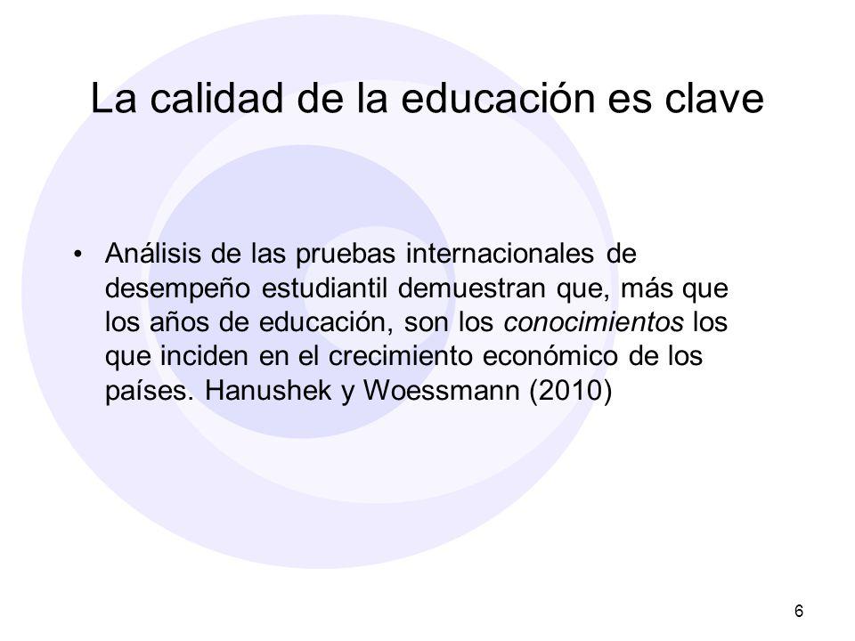 La calidad de la educación es clave