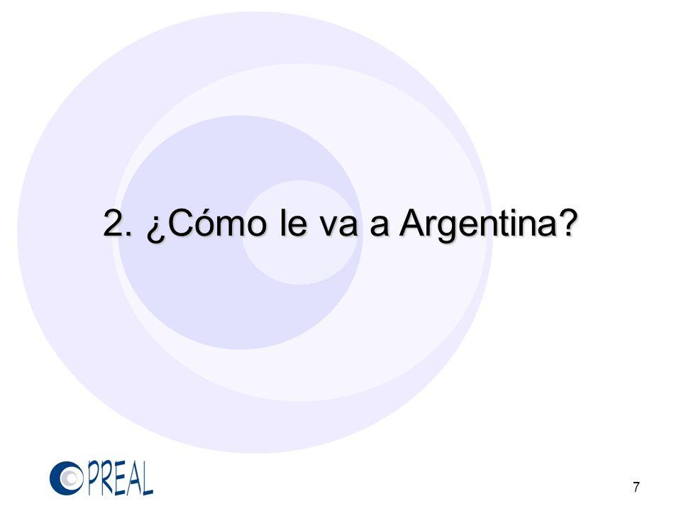 2. ¿Cómo le va a Argentina