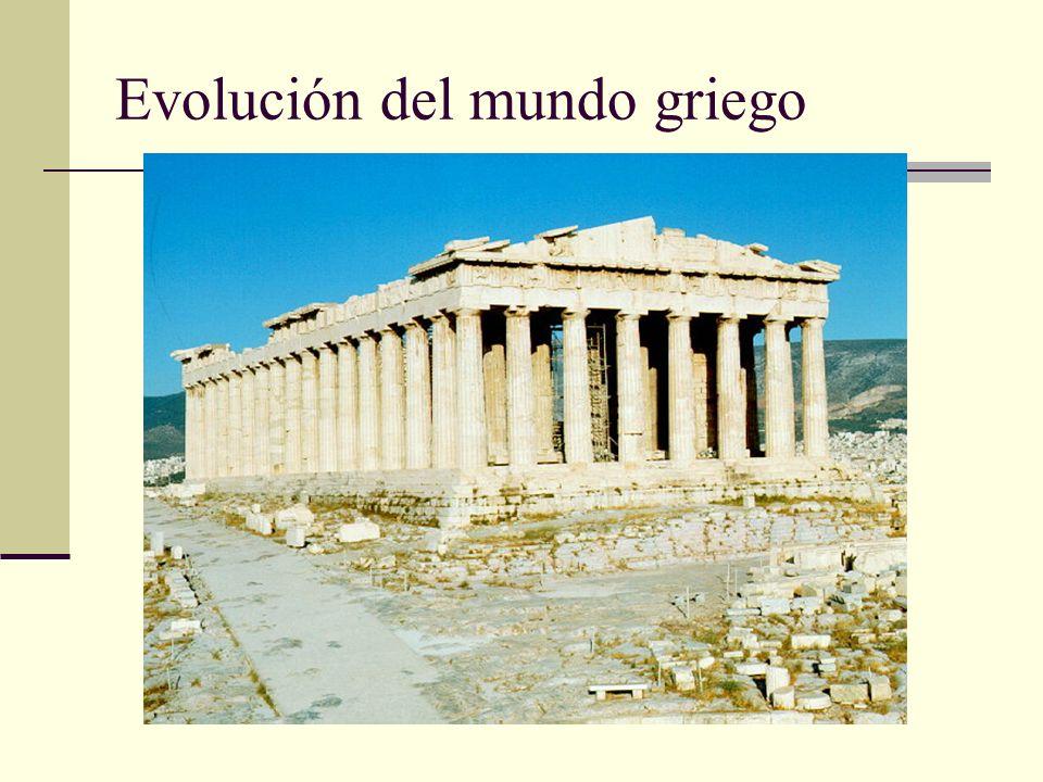 Evolución del mundo griego