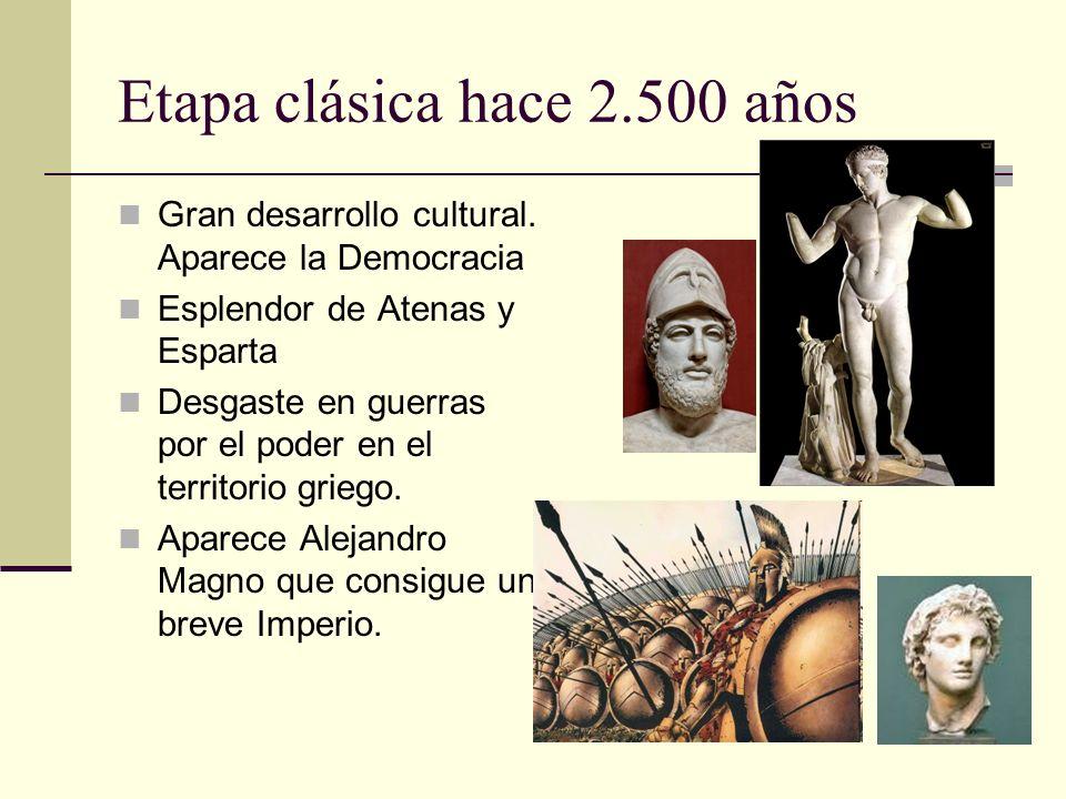 Etapa clásica hace 2.500 años