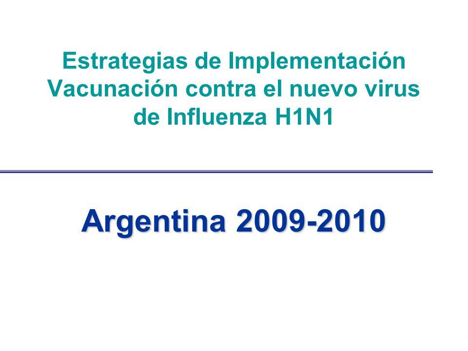 Estrategias de Implementación Vacunación contra el nuevo virus de Influenza H1N1