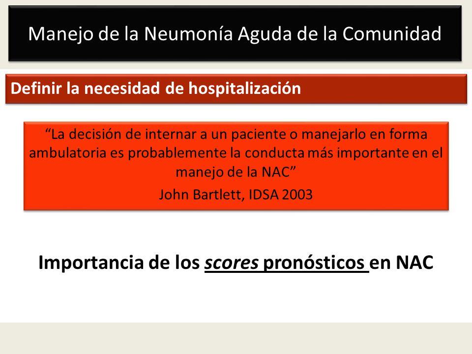 Importancia de los scores pronósticos en NAC