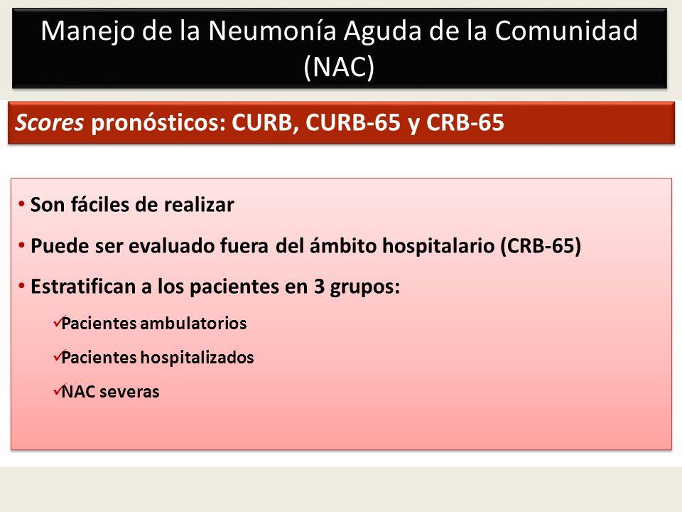 Manejo de la Neumonía Aguda de la Comunidad (NAC)