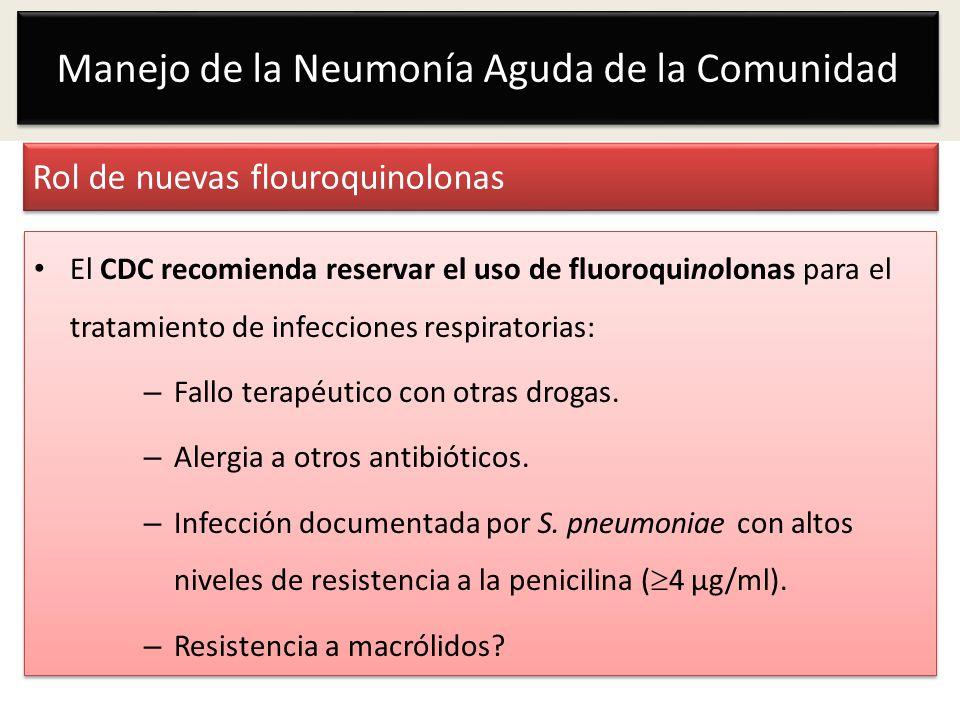 Rol de nuevas flouroquinolonas
