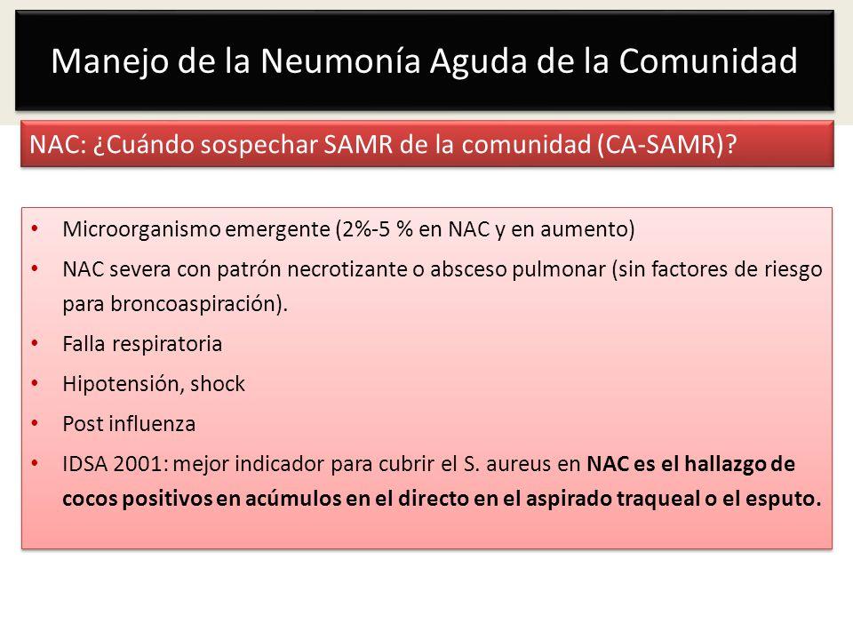 NAC: ¿Cuándo sospechar SAMR de la comunidad (CA-SAMR)