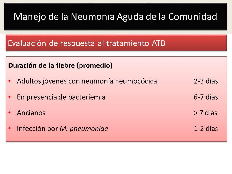 Evaluación de respuesta al tratamiento ATB