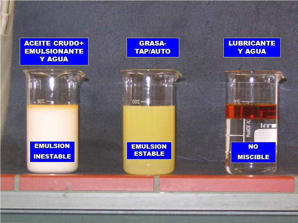 FAT EMULSIONS ACEITE CRUDO+ EMULSIONANTE Y AGUA GRASA-TAP/AUTO
