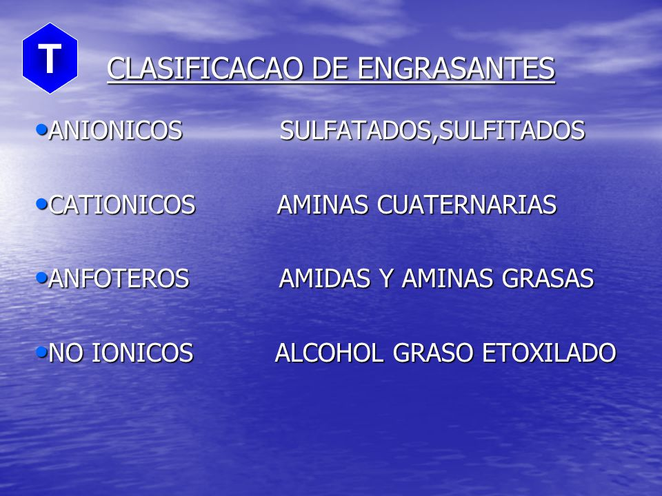 CLASIFICACAO DE ENGRASANTES