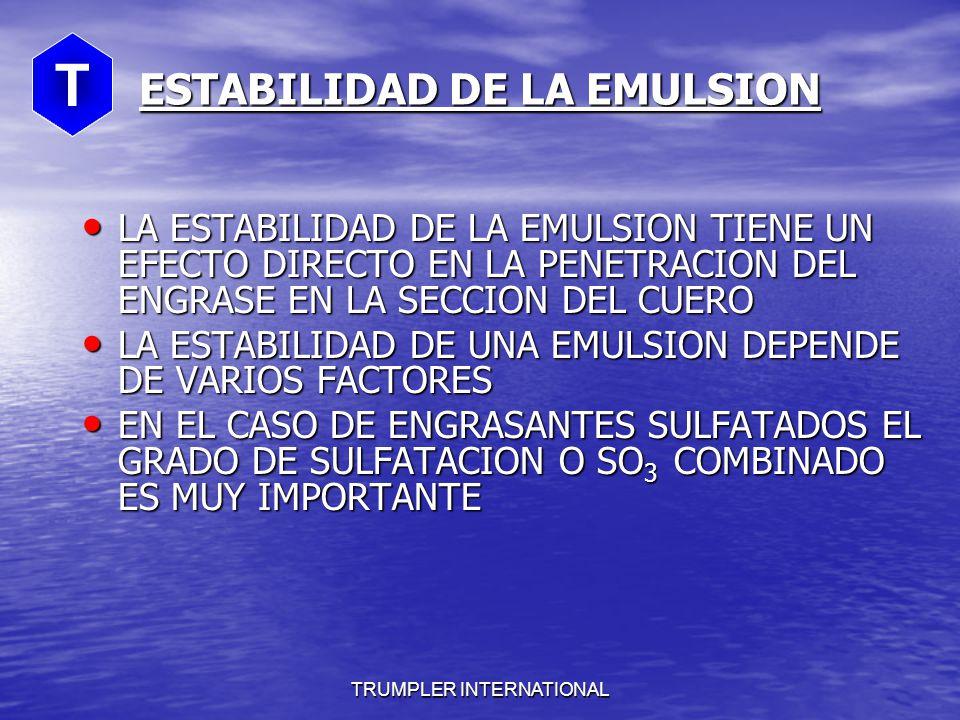 ESTABILIDAD DE LA EMULSION