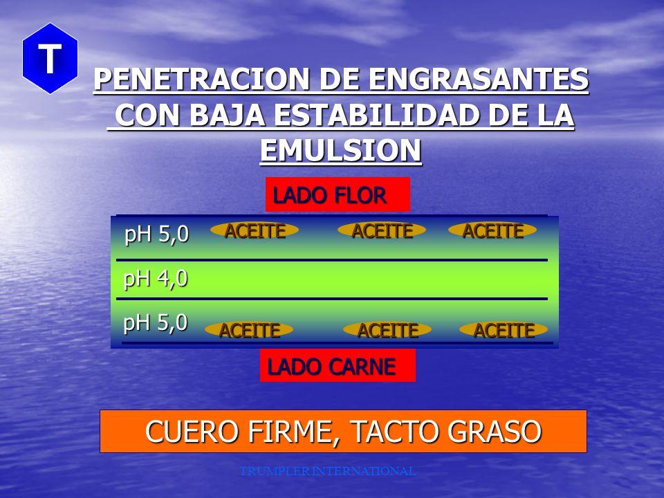 PENETRACION DE ENGRASANTES CON BAJA ESTABILIDAD DE LA EMULSION