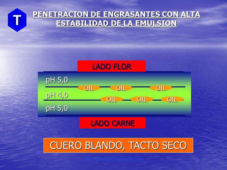 PENETRACION DE ENGRASANTES CON ALTA ESTABILIDAD DE LA EMULSION