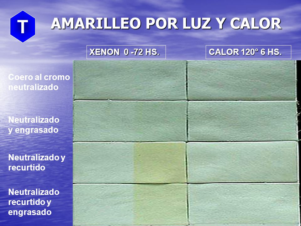 AMARILLEO POR LUZ Y CALOR