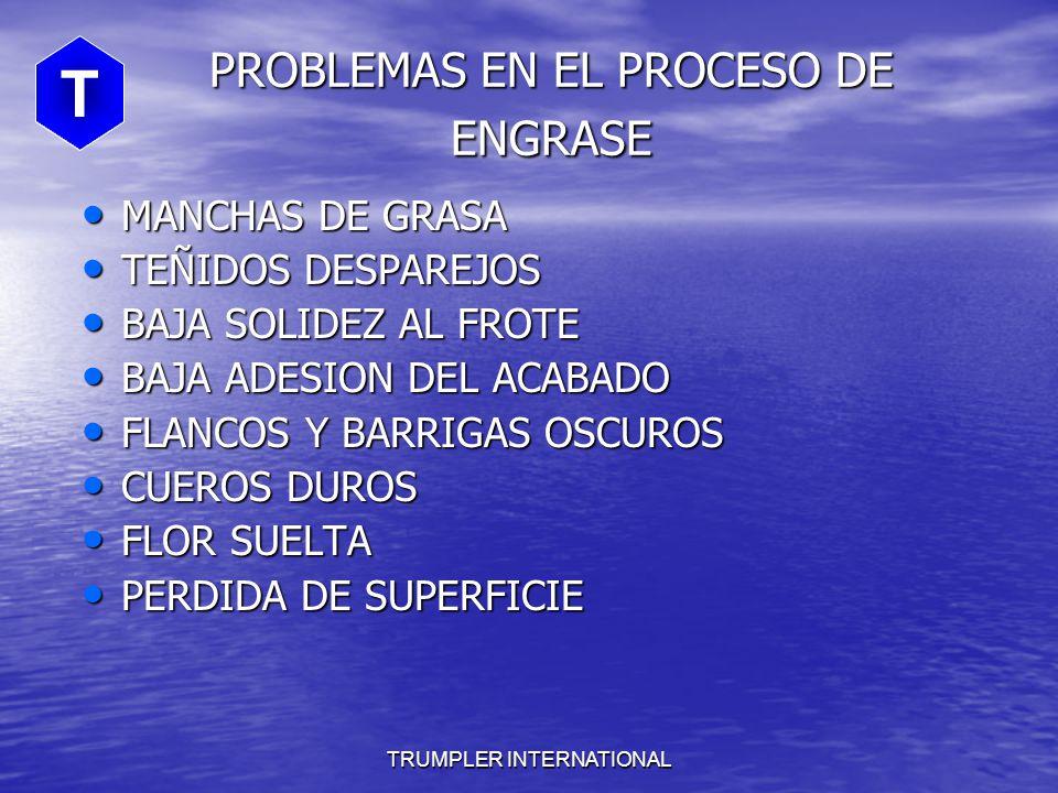PROBLEMAS EN EL PROCESO DE ENGRASE
