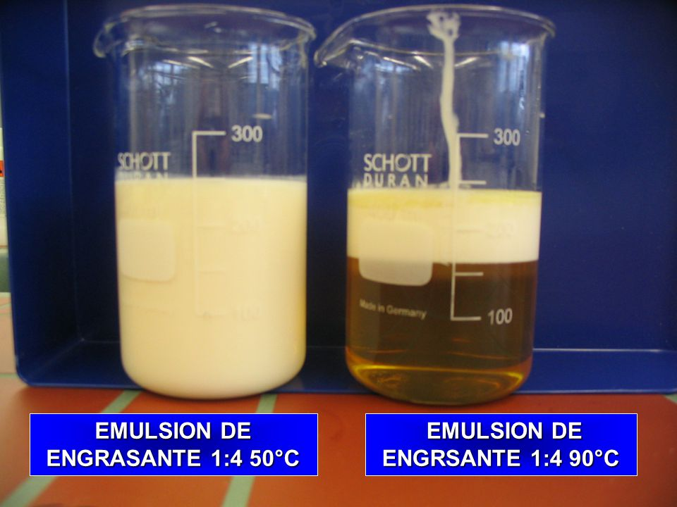 EMULSION DE ENGRASANTE 1:4 50°C EMULSION DE ENGRSANTE 1:4 90°C