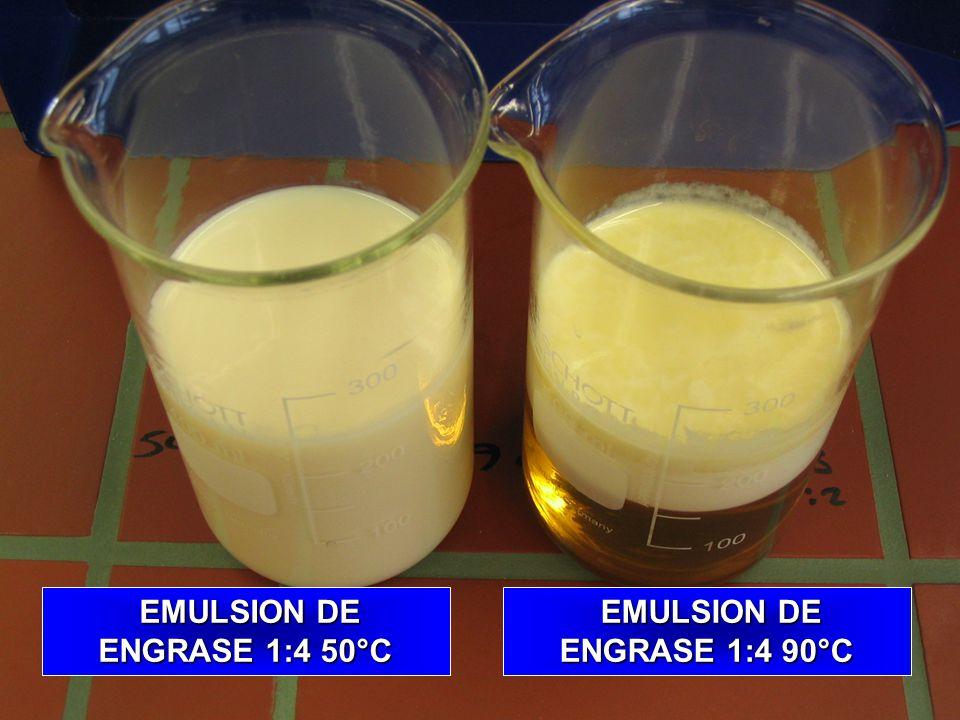EMULSION DE ENGRASE 1:4 50°C EMULSION DE ENGRASE 1:4 90°C