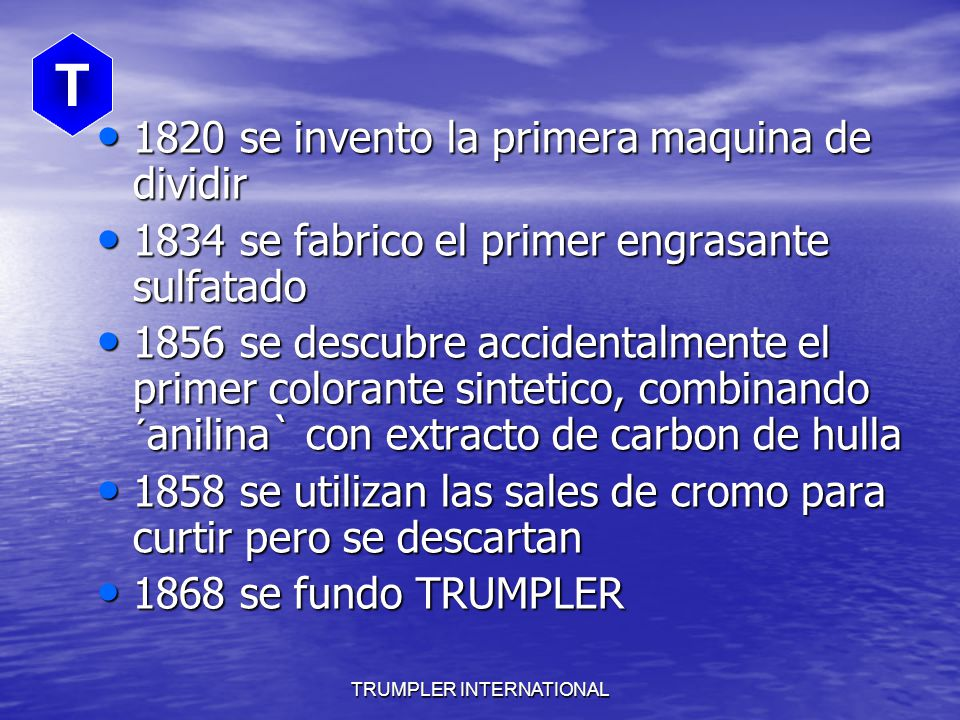 TRUMPLER INTERNATIONAL