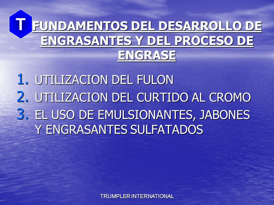 FUNDAMENTOS DEL DESARROLLO DE ENGRASANTES Y DEL PROCESO DE ENGRASE