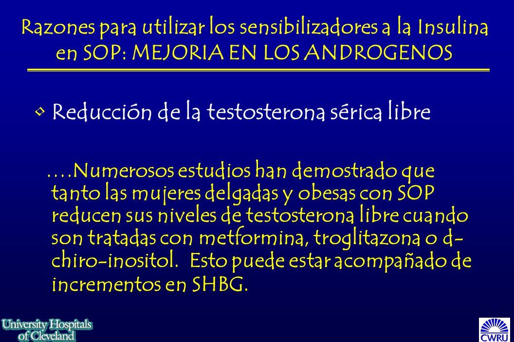 Reducción de la testosterona sérica libre