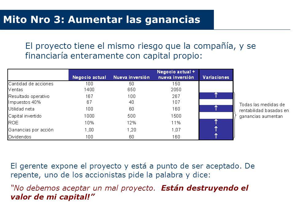 Argentina 2003-2006 Mito Nro 3: Aumentar las ganancias