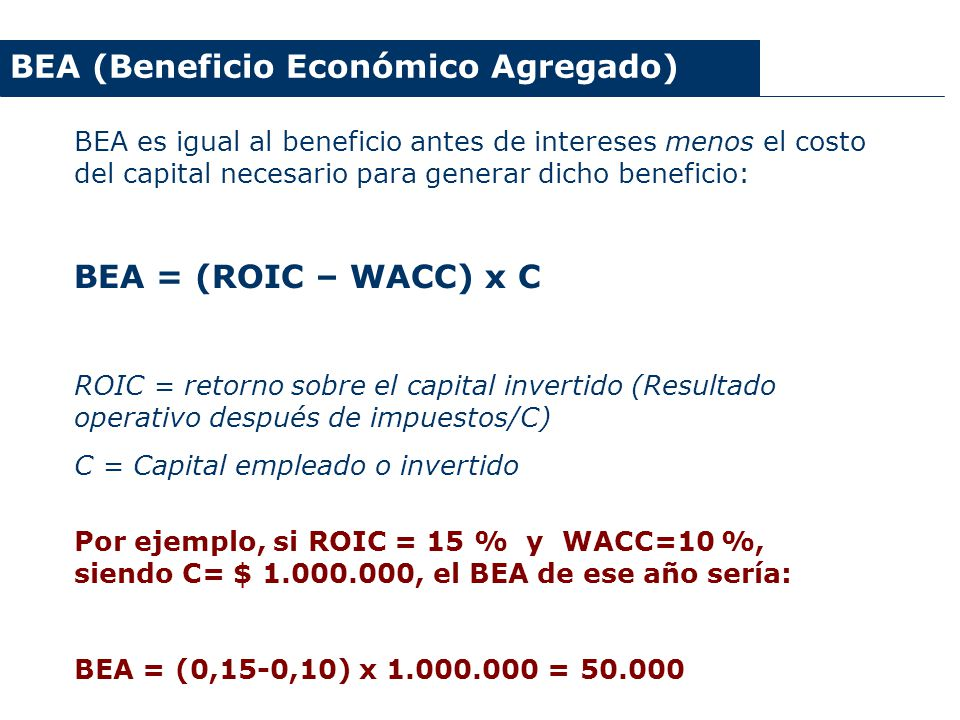 BEA (Beneficio Económico Agregado)