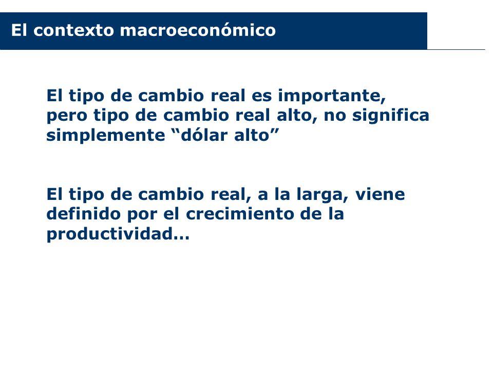 El contexto macroeconómico