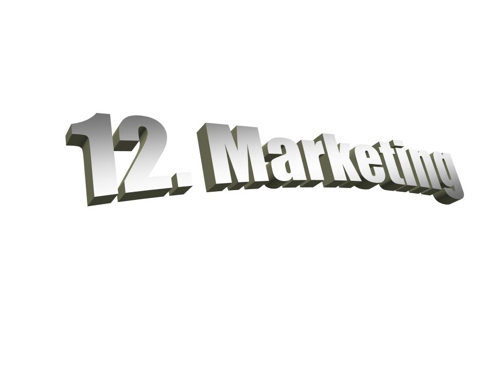 12. Marketing