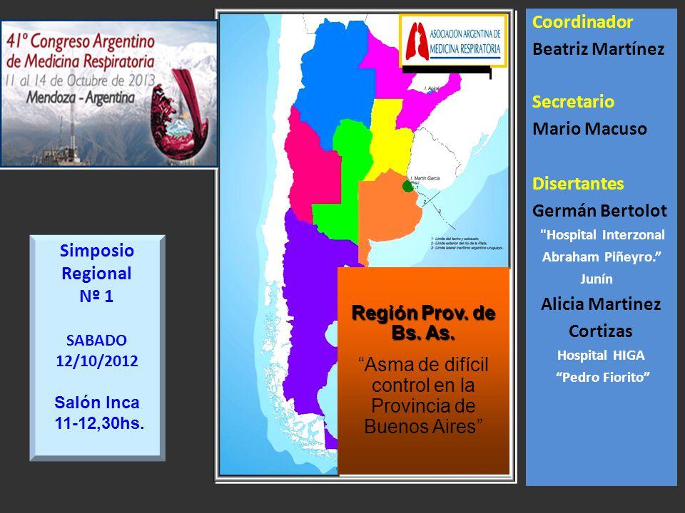 Asma de difícil control en la Provincia de Buenos Aires