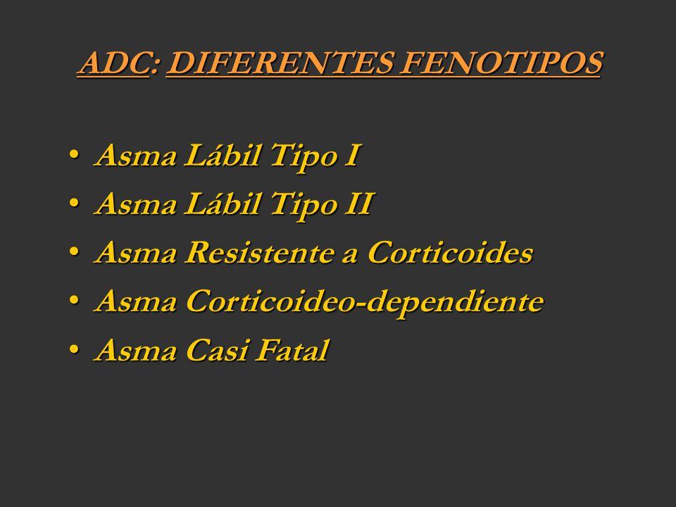 ADC: DIFERENTES FENOTIPOS