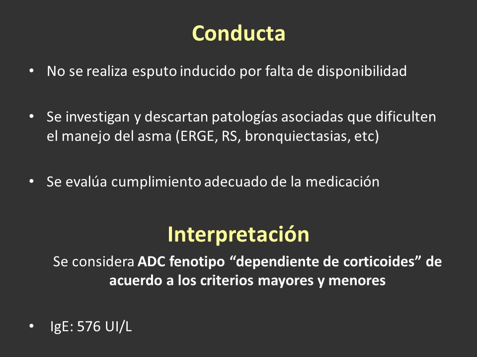 Conducta Interpretación
