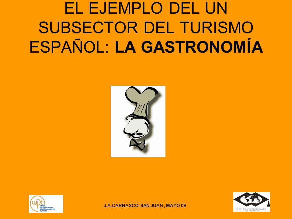 EL EJEMPLO DEL UN SUBSECTOR DEL TURISMO ESPAÑOL: LA GASTRONOMÍA