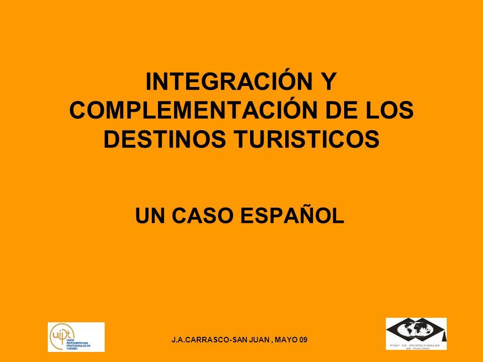 INTEGRACIÓN Y COMPLEMENTACIÓN DE LOS DESTINOS TURISTICOS