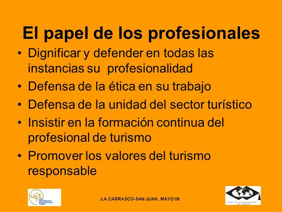 El papel de los profesionales J.A.CARRASCO-SAN JUAN , MAYO 09