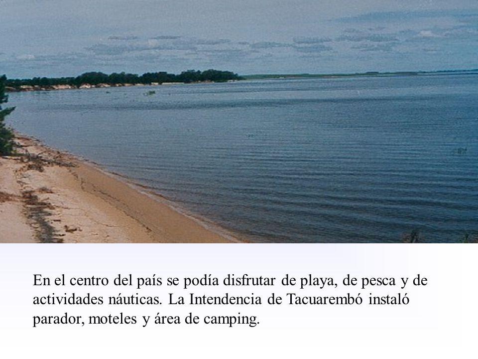 En el centro del país se podía disfrutar de playa, de pesca y de actividades náuticas.