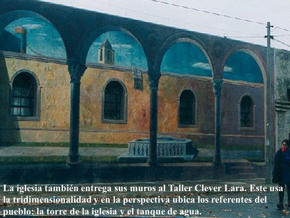 La iglesia también entrega sus muros al Taller Clever Lara