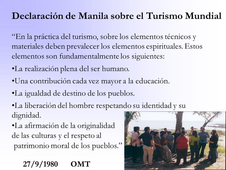 Declaración de Manila sobre el Turismo Mundial