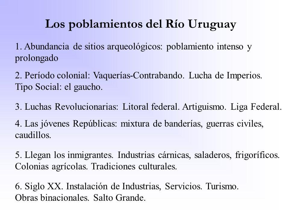 Los poblamientos del Río Uruguay