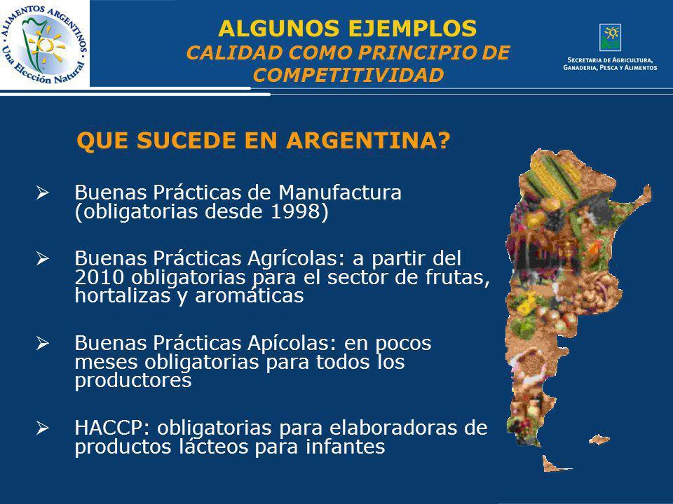 CALIDAD COMO PRINCIPIO DE COMPETITIVIDAD QUE SUCEDE EN ARGENTINA