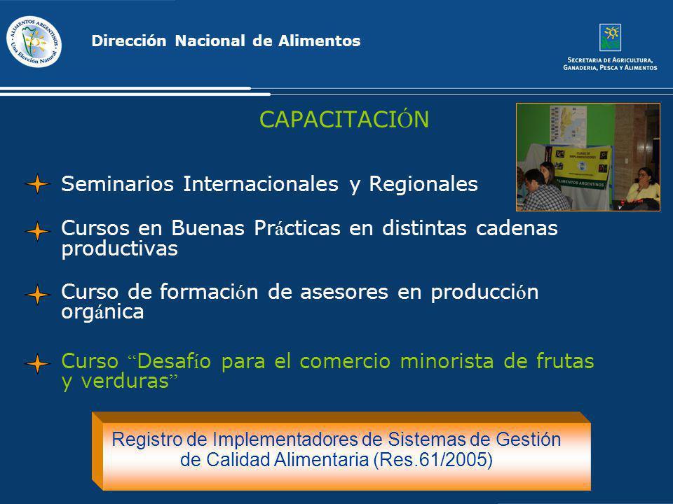 CAPACITACIÓN Seminarios Internacionales y Regionales