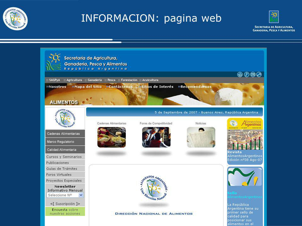 INFORMACION: pagina web