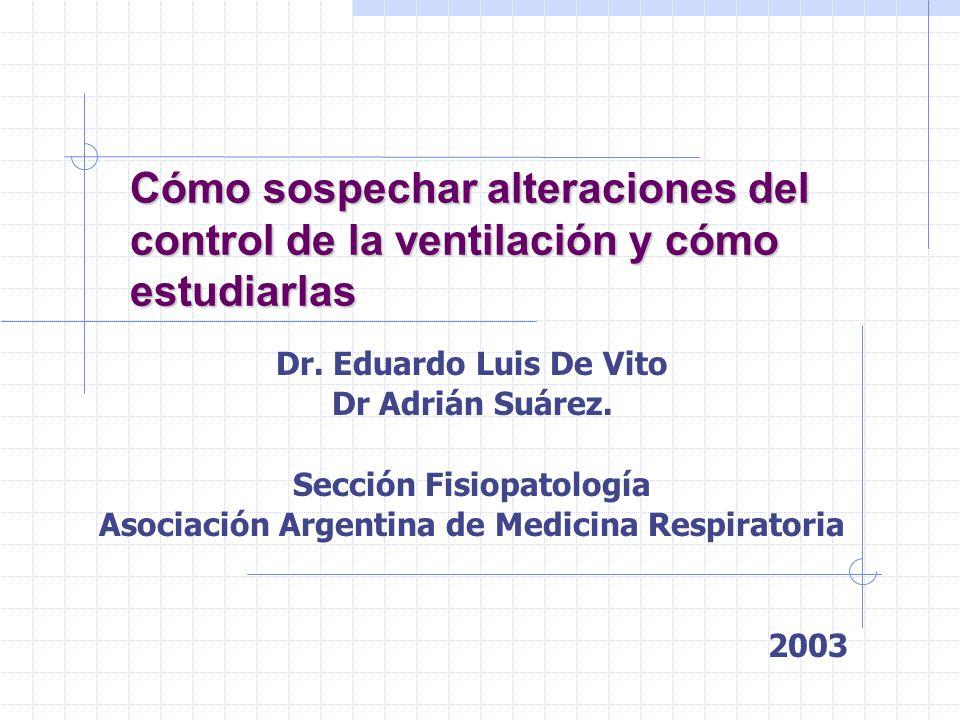 Sección Fisiopatología Asociación Argentina de Medicina Respiratoria