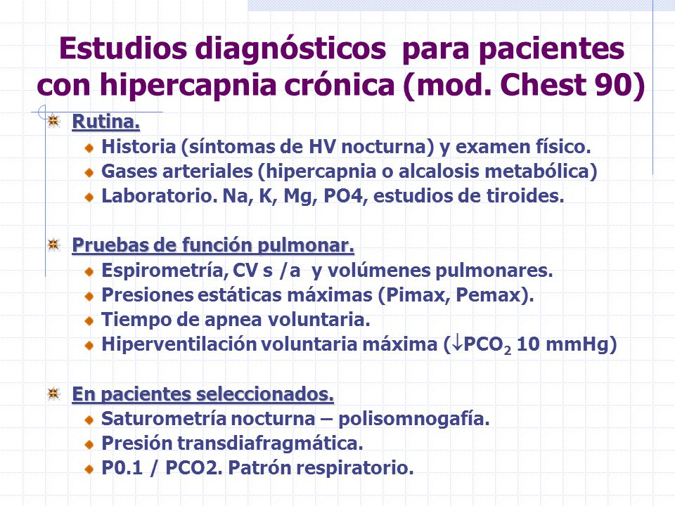 Estudios diagnósticos para pacientes con hipercapnia crónica (mod