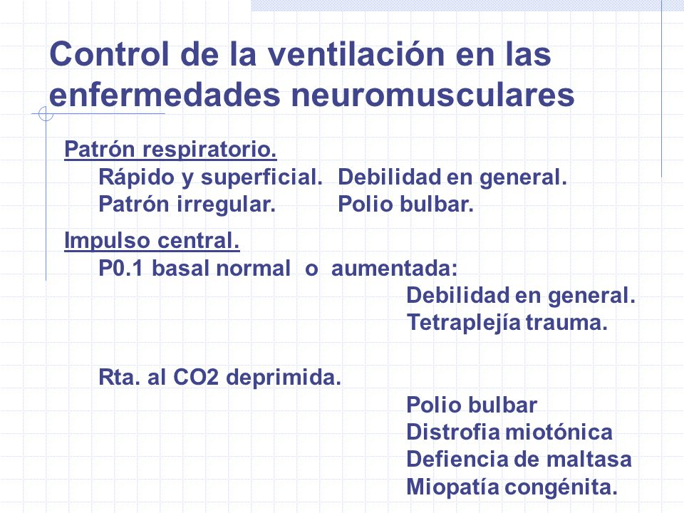 Control de la ventilación en las enfermedades neuromusculares
