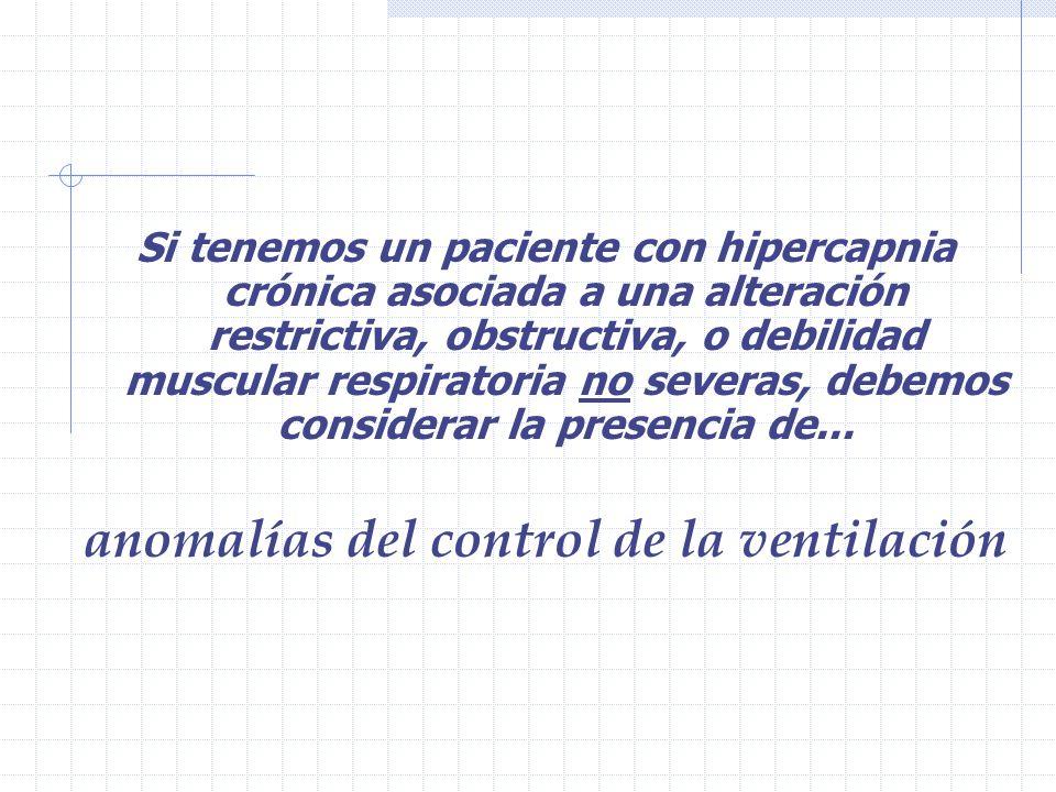 anomalías del control de la ventilación