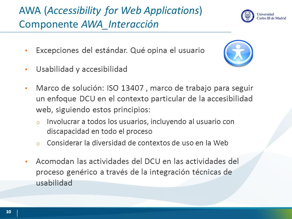 AWA (Accessibility for Web Applications) Componente AWA_Interacción