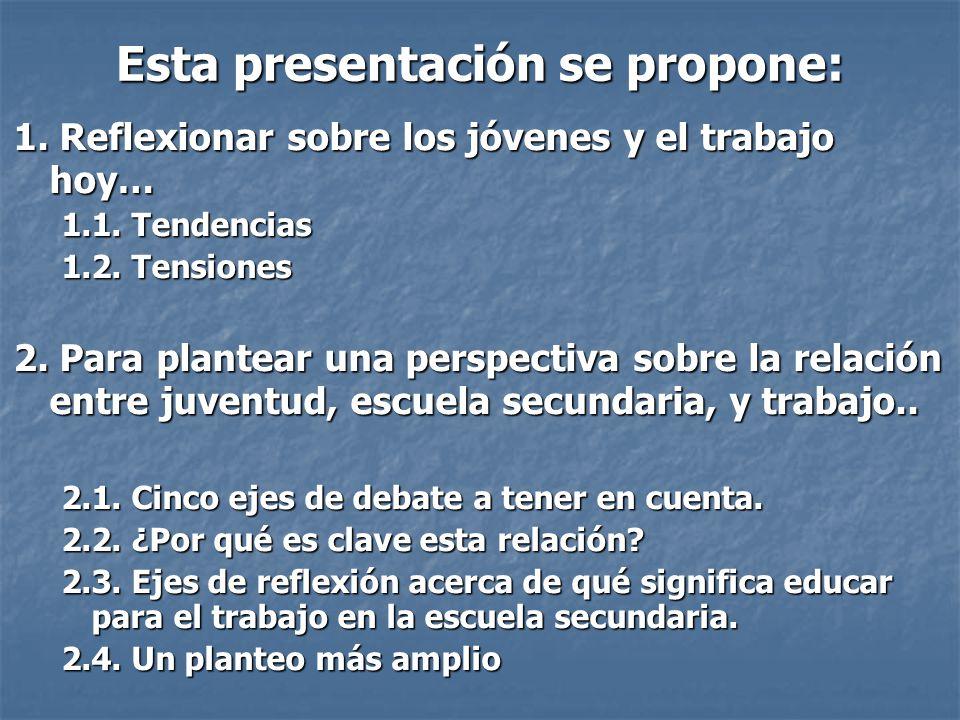 Esta presentación se propone: